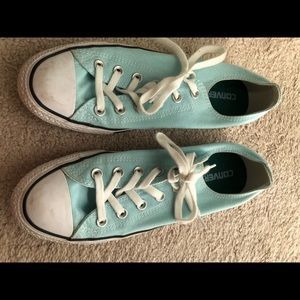 Women's converse - Tiffany blue - great condition